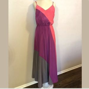 Mossimo Color Block Maxi Dress